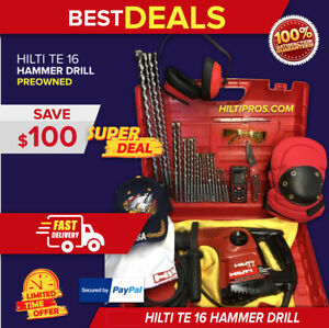 Hilti Te 16 Hammer Drill Excellent Free Laser Meter Extras Quick Ship
