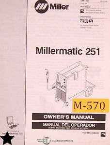 Miller Millermatic 251 Owner Manual Year 2006