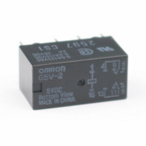 100pcs Omron Relay G5v 2 5vdc Dpdt Two pole Relays For Signal Circults 8pin New