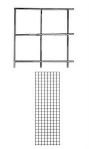 Set Of 4 Gridwall Panels 2 X 6 Grid Wall Wire Display Chrome Panel Steel