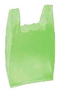 Plastic Bags Lime Green Supermarket 2000 Retail Merchandise Grocery 8 X 5 X 16