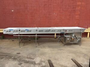 Raque Food Systems Inc Conveyor 200 X 36 Stainless Steel Frame