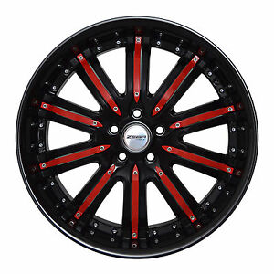 4 Gwg Wheels 20 Inch Black Red Narsis Rims Fits Land Rover Range Rover Evoque