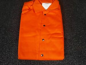 Flame Resistant Coverall Orange Cotton S 5wyr4 p
