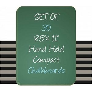 30 Set Student Handheld Laptop Green Chalkboards 8 5 X 11 Made In Usa 30