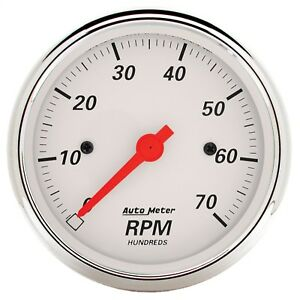 Autometer 1398 Arctic White Electric Tachometer
