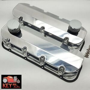Bbc Fabricated Welded Polished Aluminum Valve Covers With Breathers 454 396 427