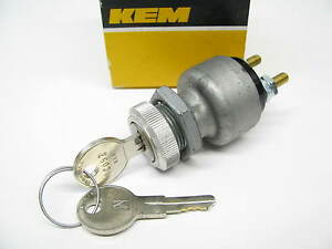 Kemparts Ul2 Universal 3 Terminal Ignition Switch W 2 Keys