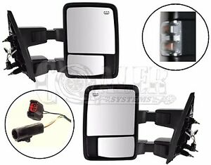 Side Towing Mirrors Ford F250 F350 F450 F550 Clear Signal Power Heated Set