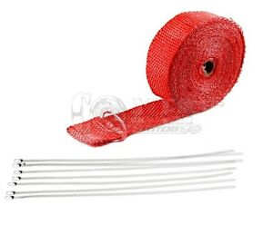 Racing Header Exhaust Turbo Red Heat Wrap 2 X 1 16 X 300 Manifold Insulation