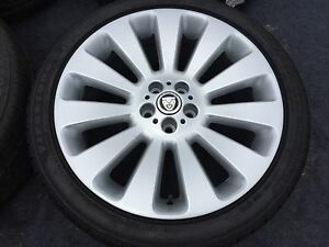 4 Genuine Jaguar Xf Wheels Rims Tires Factory Oem Rare 5x108