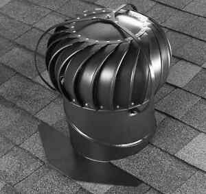 Aluminum Externally Braced Roof Attic Exhaust Turbine Vent Rotary Air Ventilator