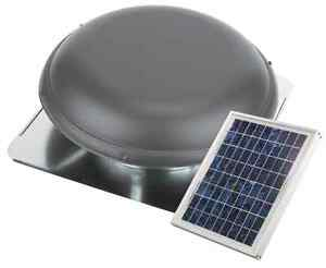 Weatherwood Galvanized Steel Solar Powered Mount Attic Roof Vent Fan Exhaust
