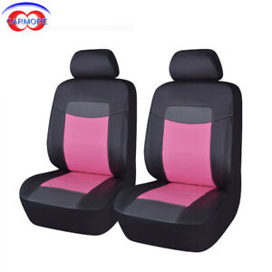 New Arrival Car Seat Covers Front Set Deluxe Pu Leather Car Seat Protectors Pink