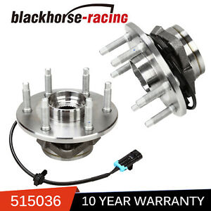 Pair Front Wheel Bearing Hub 4x4 For 99 06 Chevy Silverado 1500 Tahoe Escalade