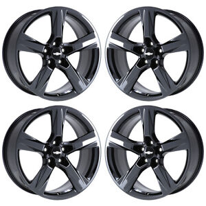 20 Camaro Ss Black Chrome Wheels Rims Factory Oem Set 4 5760 5764 Exchange