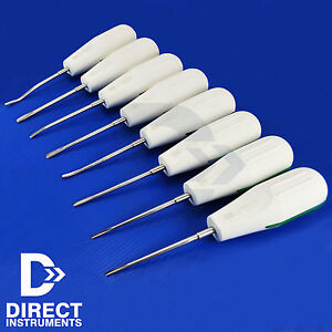 Set Of 8 Luxating Root Elevators Oral Surgery Tooth Extracting Extraction Tools