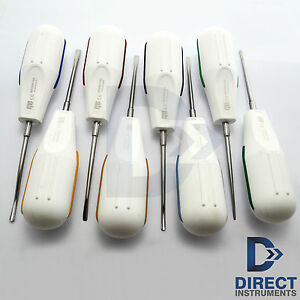8 Pcs Dental Luxating Elevators Luxation Root Elevators Oral Surgery Extraction