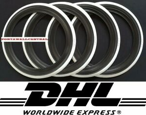 Vintage Style15 Black White Wall Port A Walls Tyre Insert Set Of 4 Old School