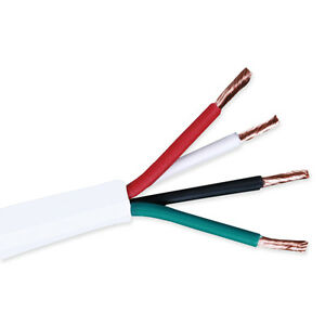 18 Gauge 100ft 4 Conductor Bare Unshielded Cable Wire With Red White Black Green