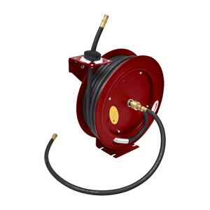 Pneumatic 49 250 Psi Retractable Air Compressor Pu Hose Reel Wall mounted