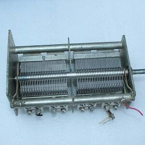 Dual unit Dual Gang Air Dielectric Variable Capacitor 1110pf 1110pf j59c