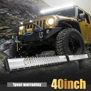 20inch 1664w Cree Led Light Bar Quad Row Spot Flood Work Lamp 4wd Suv Ute Boat K