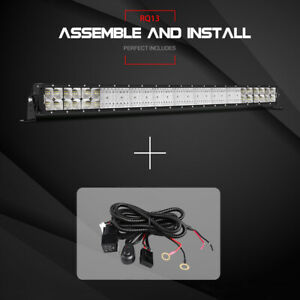 42inch 560w Osram Led Curved Light Bar Off Road Fog Driving Combo Truck Atv 40