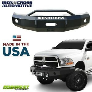 Iron Cross Push Bar Hd Bumper 2010 2018 Dodge Ram 2500 3500 Excl Power Wagon