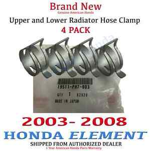 2003 2008 Honda Element Genuine Oem Honda Radiator Hose Clamp Kit Set Of 4