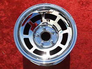 Chevrolet Corvette Oem 15 Single Chrome Wheels 1045