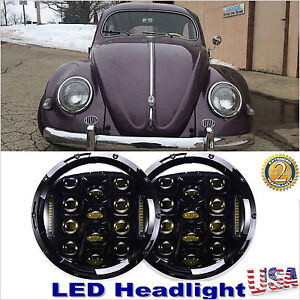 2x 7 Upgrade Led Headlights 150w Total Hi Lo Beam Kit For Vw Beetle Classic Us