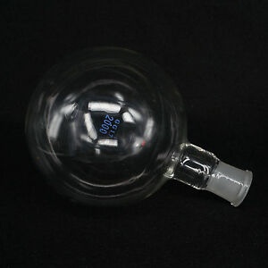 2000ml Quickfit 29 32 Socket Lab Glass Flask Round Bottom Single Short Neck Ware