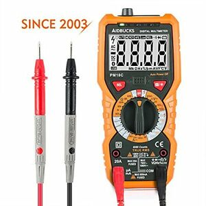 Janisa Multimeter Digital Ac Dc Voltage Current Tester Non Contact Backlight Lcd