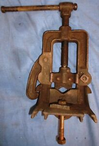 Vintage Table Edge Mount Pipe Clamp