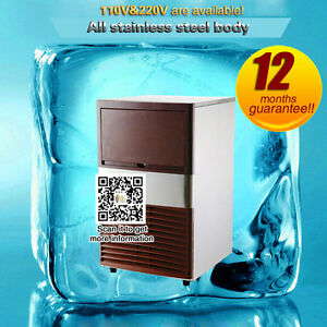 Portable Commercial Ice Cube Maker Machine Stainless Steel Automatic Ice Maker