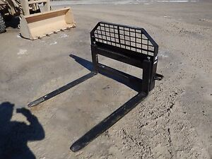 Pallet Forks 48 Adjustable Jbx Skid Steer With Step Built Very Strong Usa