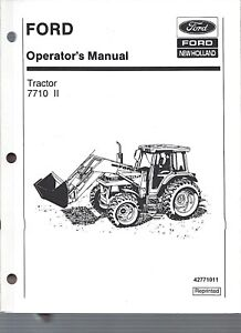 Ford 7710 Tractor Operators Manual Series Ii 1985 To 1991 W cab 42771011