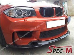 Rz Style Carbon Fiber Front Lip Spoiler Fit For Bmw E82 1 Series 1m Only