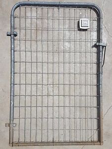 Vintage Garden Gate 1950 S Steel Wire Sears Roebuck Industrial Architectural