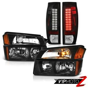 2002 2006 Chevy Avalanche Body Cladding Black Led Tail Light Bumper Headlights