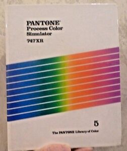 Vintage 1988 Pantone Book Process Color Simulator 747xr Coated Chip Pages
