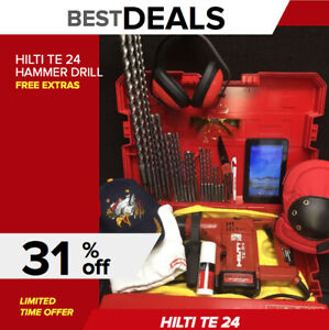 Hilti Te 24 Hammer Drill Nice Condition Free Tablet Bits Quick Ship