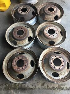 Set Of 6 19 5x6 8 Lug Steel Wheel