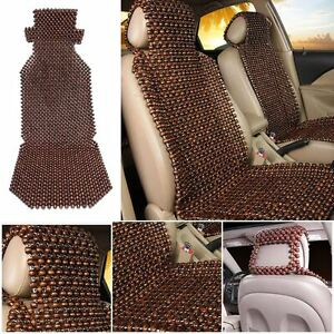 1pc Natural Wood Wooden Beaded Massage Car Truck Seat Cover Cool Cushion Coffee