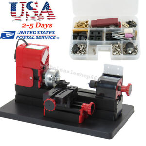 6in1 Machine Metal Wood Lathe Diy Tool Jigsaw Milling Drilling Art Model Project