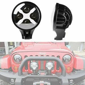 6 Inch 60w Round White Front Led Fog Spot Light Turn Signal Offroad Jeep Lamp