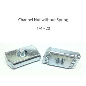 1 4 20 Channel Nuts W o Spring qty 100 Pcs