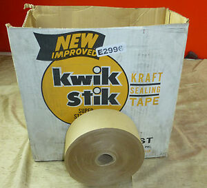 9 3 X 600ft Gummed Kraft Paper Tape Shipping Sealing Strong Water Activated