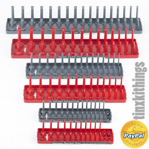 Socket Storage Tray 6pc Set 1 4in 3 8in 1 2in Sae Metric Tool Organizer Plastic